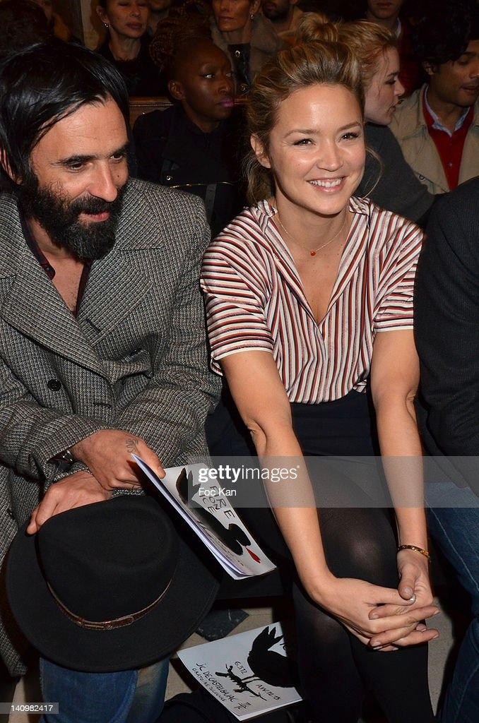 Virginie Efira and Samuel Benchetrit attend the JeanCharles de Castelbajac show during Paris Fashion Week Womenswear Fall/Winter 2012 at L'Oratoire...