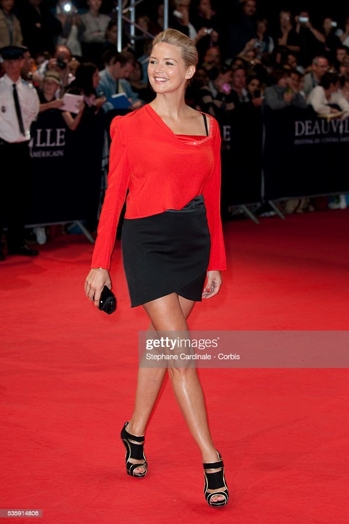 Virginie Efira attends 'The Debt' Premiere at the 36th American Film Festival in Deauville.