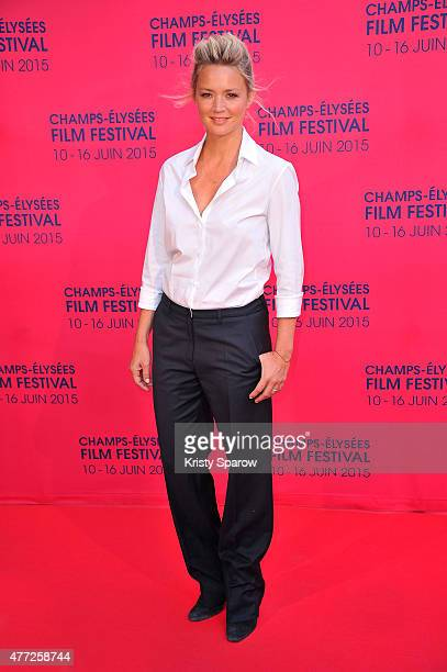 Virginie Efira attends the 'Une famille a louer' Premiere during the 4th Champs Elysees Film Festival at Publicis Cinemas on June 15 2015 in Paris...