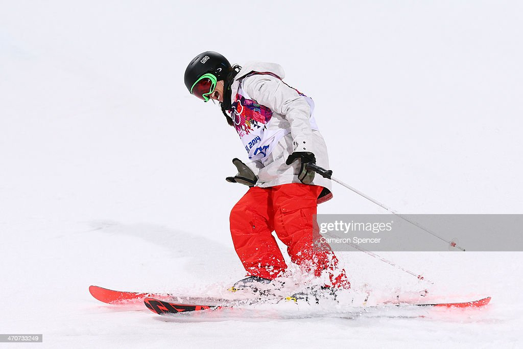 <a gi-track='captionPersonalityLinkClicked' href=/galleries/search?phrase=Virginie+Faivre&family=editorial&specificpeople=786060 ng-click='$event.stopPropagation()'>Virginie Faivre</a> of Switzerland celebrates in the Freestyle Skiing Ladies' Ski Halfpipe Finals on day thirteen of the 2014 Winter Olympics at Rosa Khutor Extreme Park on February 20, 2014 in Sochi, Russia.