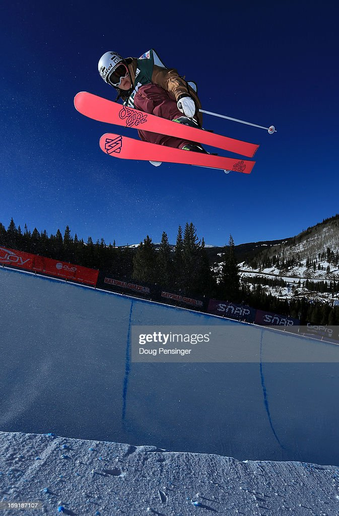 Virginie Faivre of Switzerland competes during qualification for the ladies Ski Halfpipe FIS Freestyle Ski World Cup at the US Grand Prix on January 9, 2013 in Copper Mountain, Colorado.