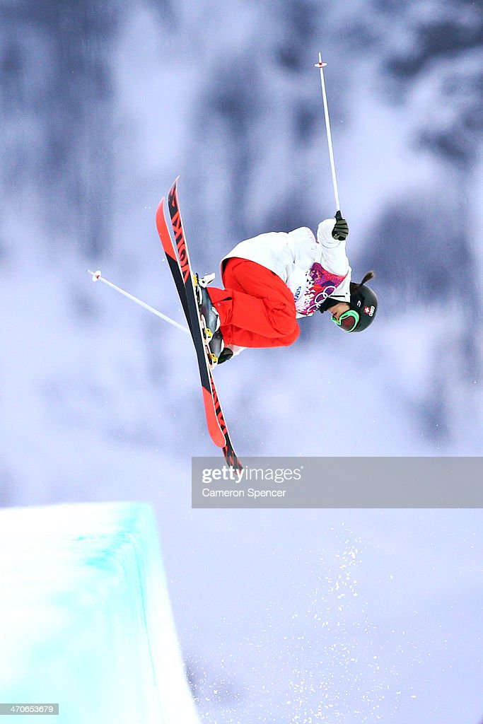 <a gi-track='captionPersonalityLinkClicked' href=/galleries/search?phrase=Virginie+Faivre&family=editorial&specificpeople=786060 ng-click='$event.stopPropagation()'>Virginie Faivre</a> of Switzerland competes in the Freestyle Skiing Ladies' Ski Halfpipe Qualification on day thirteen of the 2014 Winter Olympics at Rosa Khutor Extreme Park on February 20, 2014 in Sochi, Russia.