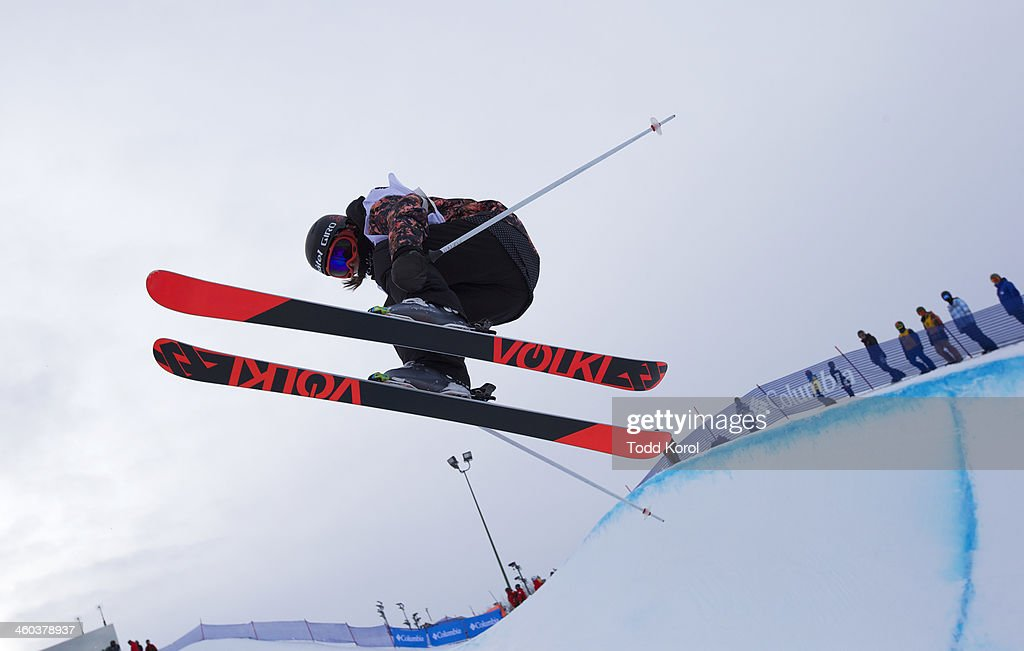 <a gi-track='captionPersonalityLinkClicked' href=/galleries/search?phrase=Virginie+Faivre&family=editorial&specificpeople=786060 ng-click='$event.stopPropagation()'>Virginie Faivre</a> of Switzerland flies through the air during the women's halfpipe finals at the FIS Freestyle Ski World Cup January 3, 2014 in Calgary, Alberta, Canada.