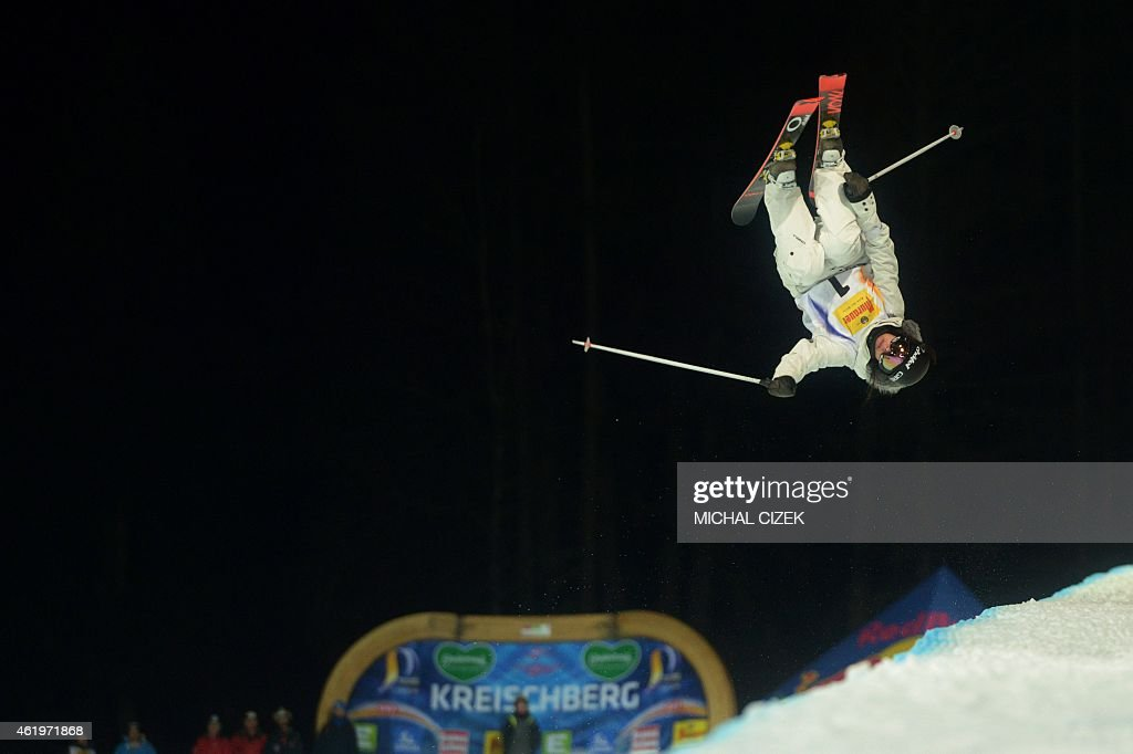 <a gi-track='captionPersonalityLinkClicked' href=/galleries/search?phrase=Virginie+Faivre&family=editorial&specificpeople=786060 ng-click='$event.stopPropagation()'>Virginie Faivre</a> of Switzerland jumps during the Women's Ski Halfpipe Final at FIS Freestyle and Snowboarding World Ski Championships 2015 in Kreischberg, Austria on January 22, 2015.