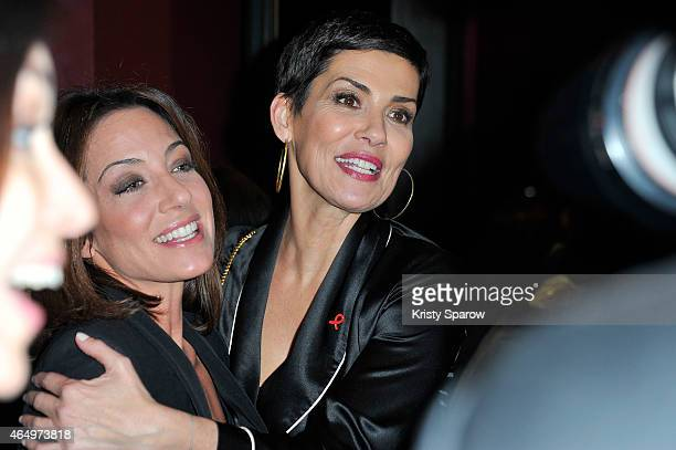 Virginie Guilhaume and Cristina Cordula attend the Sidaction 2015 at Musee du Quai Branly on March 2 2015 in Paris France