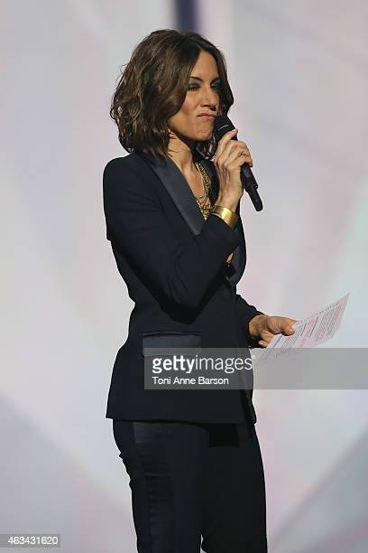 Virginie Guilhaume hosts Les Victoires De La Musique at Le Zenith on February 13 2015 in Paris France