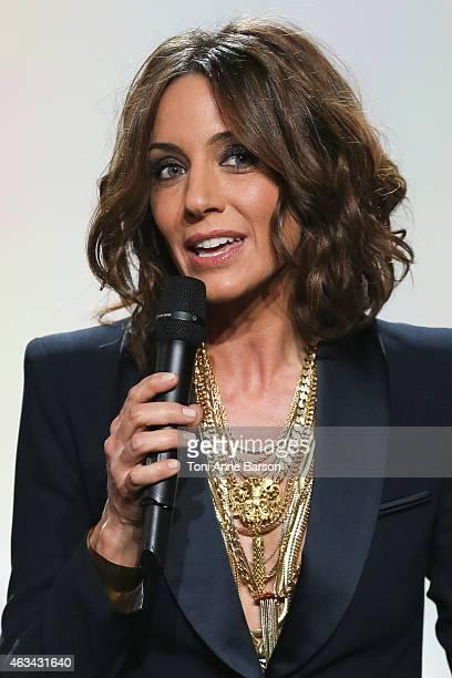 Virginie Guilhaume Hosts of Les Victoires De La Musique at Le Zenith on February 13 2015 in Paris France