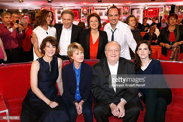 Virginie Guilhaume Michel Drucker Anne Roumanoff Jerry Virginie Hocq Main guest of the show Miou Miou Bernard Mabille and Justine Levy attend the...