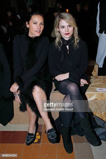 Virginie Ledoyen and Beatrice Martin Coeur de Pirate attend the Sonia Rykiel show as part of the Paris Fashion Week Womenswear Fall/Winter 2017/2018...