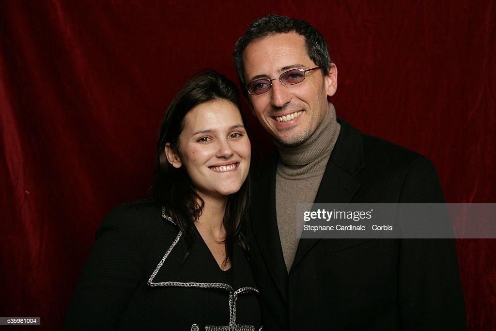 Virginie Ledoyen and Gad Elmaleh at the 'Henri Jeanson' prize ceremony.