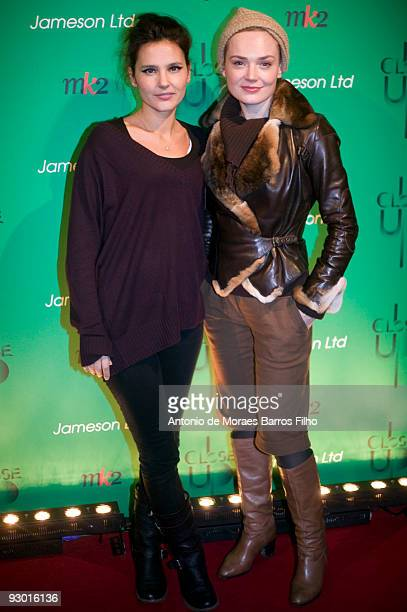 Virginie Ledoyen and Julie Judd attend the Close Up Festival 2nd Edition 'Take it Irish' Party at Mk2 Bibliotheque on November 12 2009 in Paris France