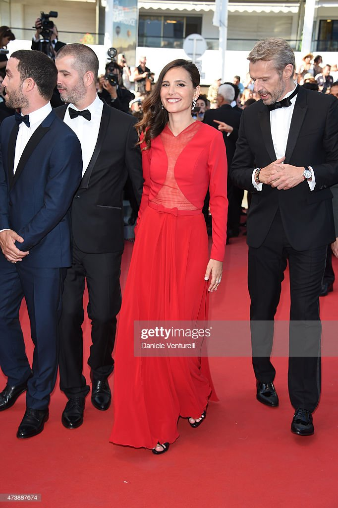 Virginie Ledoyen and Lambert Wilson attend the 'Inside Out' Premiere during the 68th annual Cannes Film Festival on May 18 2015 in Cannes France