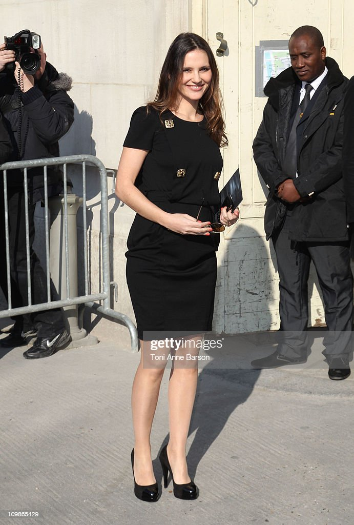 Virginie Ledoyen arrives at the Chanel Ready to Wear Autumn/Winter 2011/2012 show during Paris Fashion Week at Grand Palais on March 8 2011 in Paris...