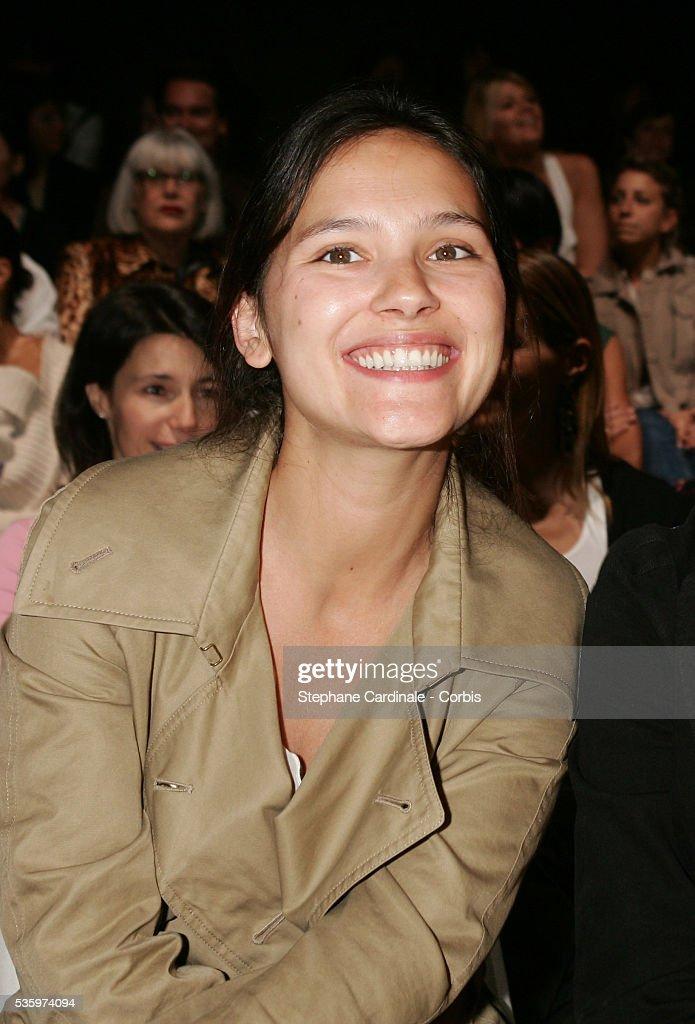 Virginie Ledoyen at the 'Comptoir des Cotonniers' fashion show held in Paris.