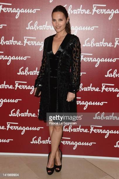 Virginie Ledoyen attends Leonardo Da Vinci's Latest Exhibition 'The Saint Anne' Leonardo Da Vinci's Ultimate Masterpiece at Musee du Louvre on March...