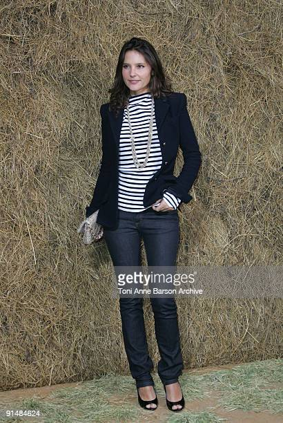 Virginie Ledoyen attends the Chanel Pret a Porter show as part of the Paris Womenswear Fashion Week Spring/Summer 2010 at the Grand Palais on October...