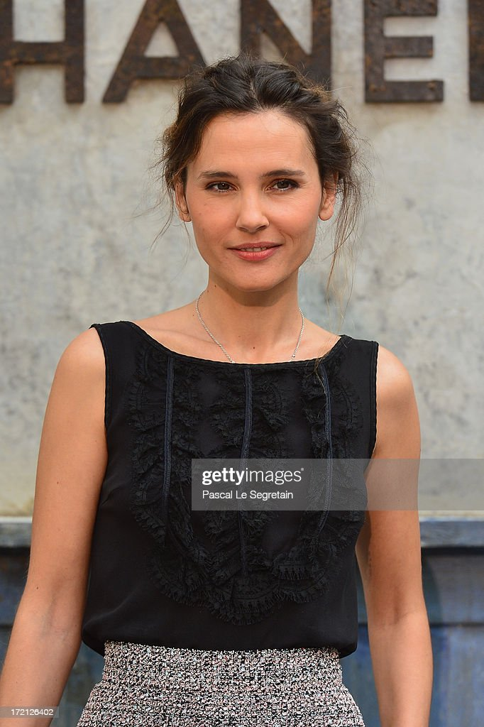 Virginie Ledoyen attends the Chanel show as part of Paris Fashion Week HauteCouture Fall/Winter 20132014 at Grand Palais on July 2 2013 in Paris...