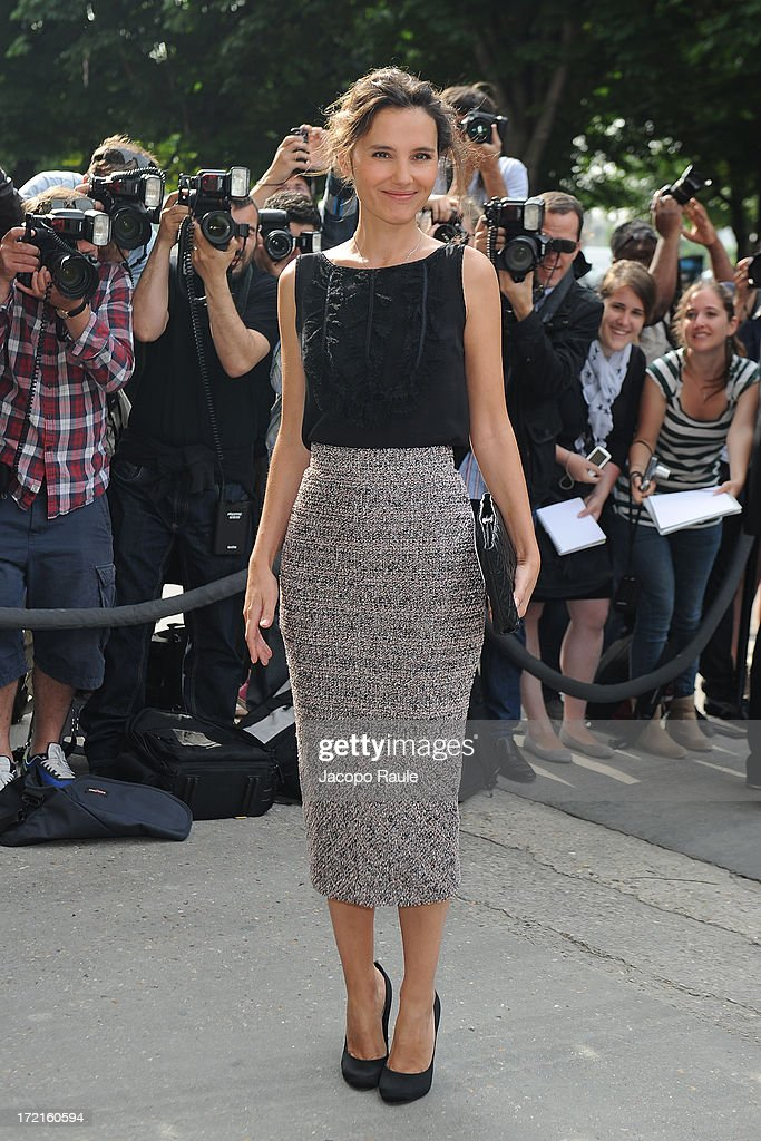 Virginie Ledoyen attends the Chanel show as part of Paris Fashion Week Haute-Couture Fall/Winter 2013-2014 at Grand Palais on July 2, 2013 in Paris, France.