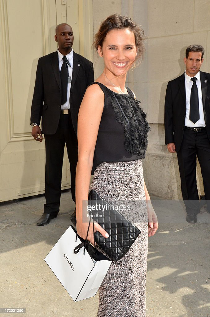 Virginie Ledoyen attends the Chanel show as part of Paris Fashion Week Haute-Couture Fall/Winter 2013-2014 at the Grand Palais on July 2, 2013 in Paris, France.