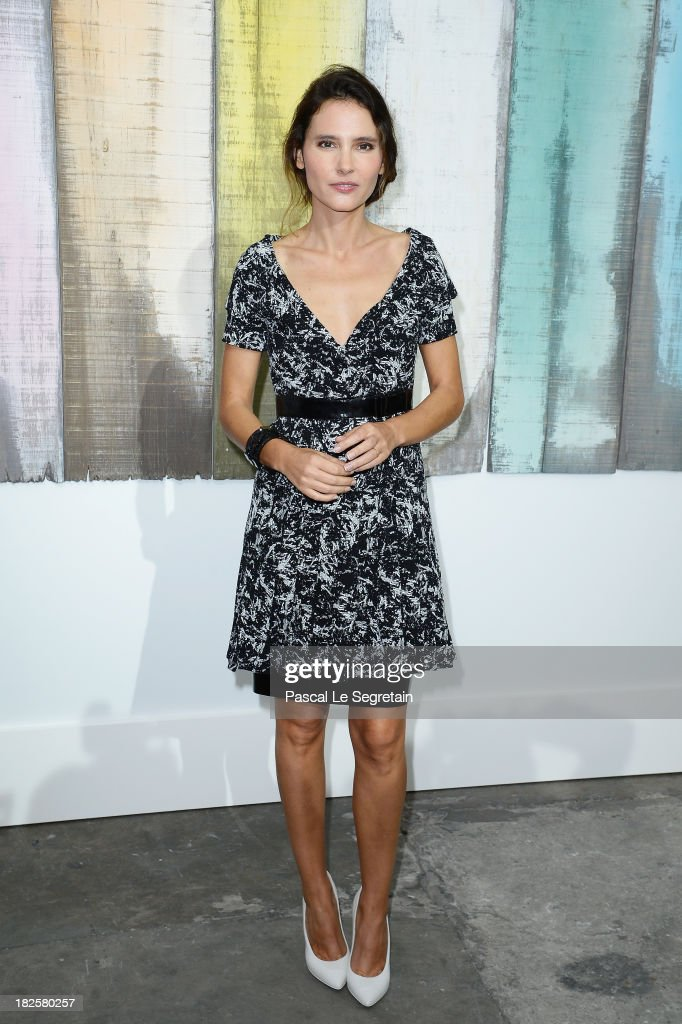 Virginie Ledoyen attends the Chanel show as part of the Paris Fashion Week Womenswear Spring/Summer 2014 at Grand Palais on October 1 2013 in Paris...