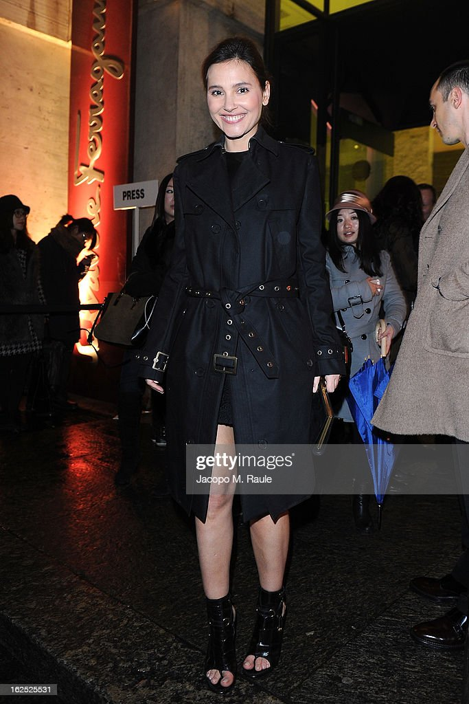 Virginie Ledoyen attends the Salvatore Ferragamo fashion show as part of Milan Fashion Week Womenswear Fall/Winter 2013/14 on February 24, 2013 in Milan, Italy.