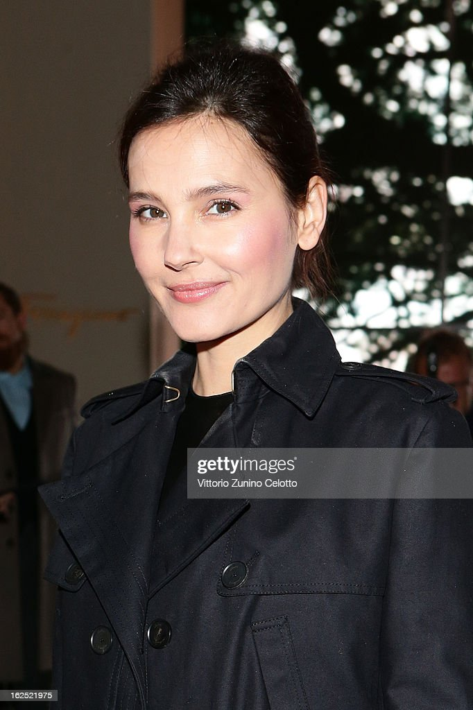 Virginie Ledoyen attends the Salvatore Ferragamo fashion show during Milan Fashion Week Womenswear Fall/Winter 2013/14 on February 24, 2013 in Milan, Italy.