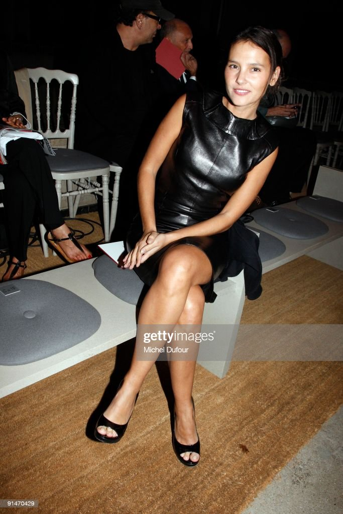 Virginie Ledoyen attends Yves Saint Laurent Pret a Porter show as part of the Paris Womenswear Fashion Week Spring/Summer 2010 on October 5 2009 in...