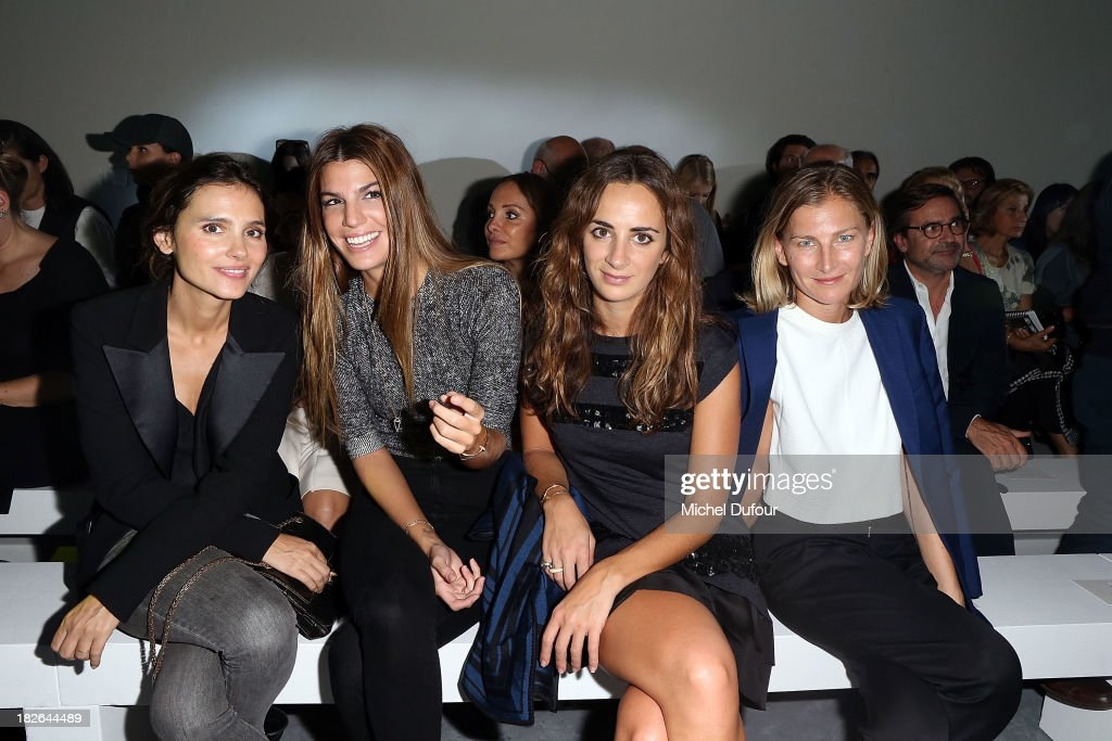 <a gi-track='captionPersonalityLinkClicked' href=/galleries/search?phrase=Virginie+Ledoyen&family=editorial&specificpeople=206954 ng-click='$event.stopPropagation()'>Virginie Ledoyen</a>, <a gi-track='captionPersonalityLinkClicked' href=/galleries/search?phrase=Bianca+Brandolini+d%27Adda&family=editorial&specificpeople=5507285 ng-click='$event.stopPropagation()'>Bianca Brandolini d'Adda</a>, <a gi-track='captionPersonalityLinkClicked' href=/galleries/search?phrase=Alexia+Niedzielski&family=editorial&specificpeople=4865022 ng-click='$event.stopPropagation()'>Alexia Niedzielski</a> and Elisabeth von Guttman attend the Moncler Gamme Rouge show as part of the Paris Fashion Week Womenswear Spring/Summer 2014 on October 2, 2013 in Paris, France.