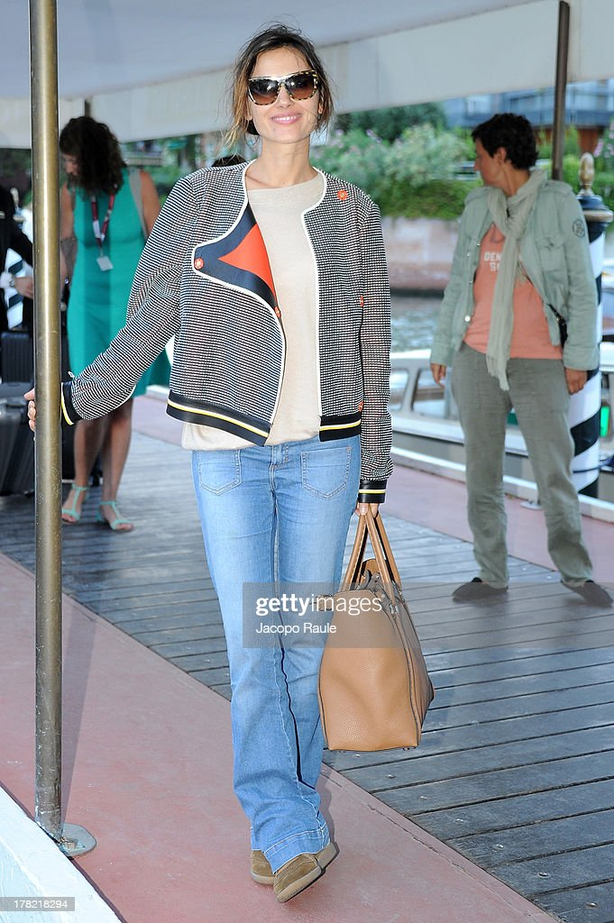<a gi-track='captionPersonalityLinkClicked' href=/galleries/search?phrase=Virginie+Ledoyen&family=editorial&specificpeople=206954 ng-click='$event.stopPropagation()'>Virginie Ledoyen</a> is seen during the 70th Venice International Film Festival on August 27, 2013 in Venice, Italy.