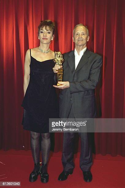 Virginie Lemoine and Philippe Avron who won a Moliere for best 1 man show with 'Je Suis Un Saumon'
