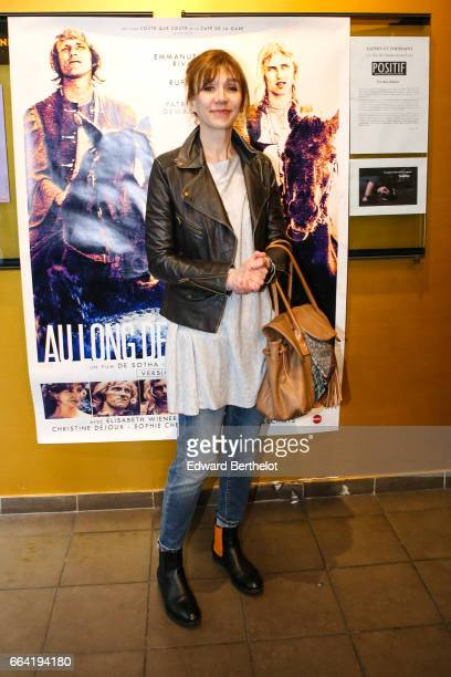 Virginie Lemoine attends the 'Au Long De La Riviere Fango' Paris Premiere At Le Luminor on April 3 2017 in Paris France