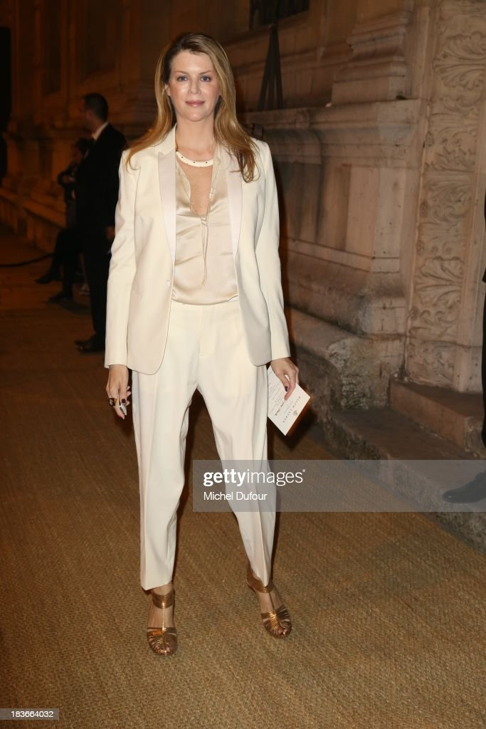 Virginie Mouzat arrives at a Ralph Lauren Collection Show and private dinner at Les Beaux-Arts de Paris on October 9, 2013 in Paris, France. On this occasion Ralph Lauren celebrates the restoration project and patron sponsorship of L'Ecole des Beaux-Arts.