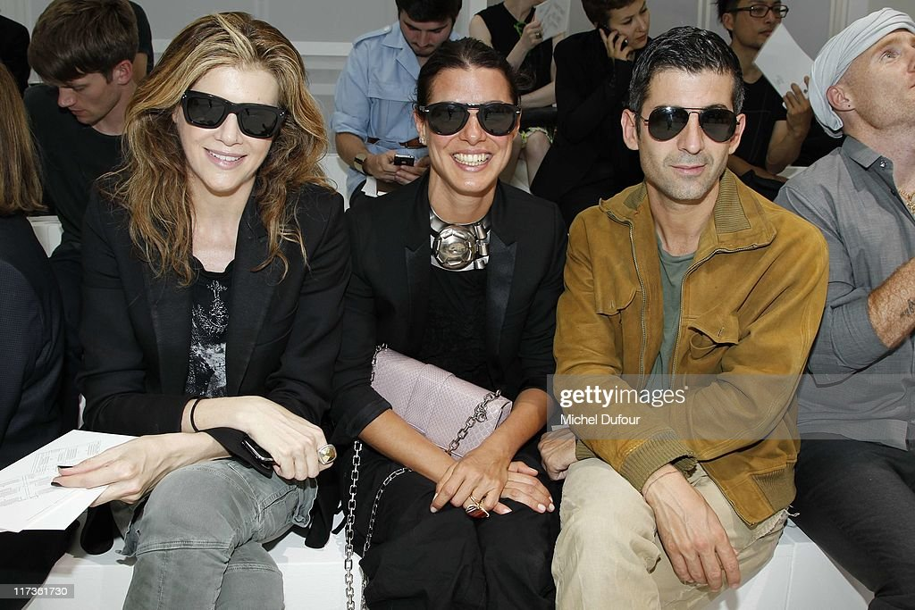 Virginie Mouzat, Camille Miceli and Andre attend the Dior Homme Menswear Spring/Summer 2012 show as part of Paris Fashion Week at on June 25, 2011 in Paris, France.