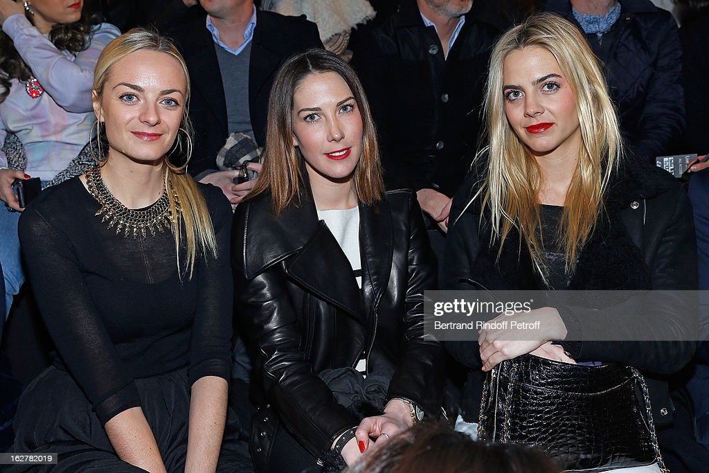 Virginie Prisca and Jenna CourtinClarins attend the Etam Live Show Lingerie at Bourse du Commerce on February 26 2013 in Paris France