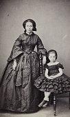 Virginie Studer Born in Constantinople Opel Athens Patras Full figure About 1865 Carte de visitephotograph