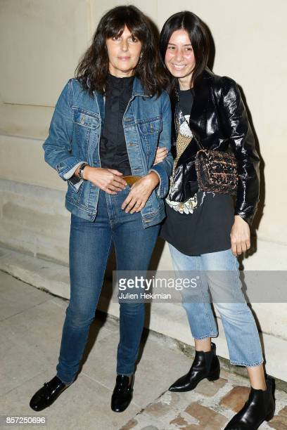 Virginie Viard and Leila Smara attend the Chanel 'Code Coco' Watch Launch Party as part of the Paris Fashion Week Womenswear Spring/Summer 2018 on...