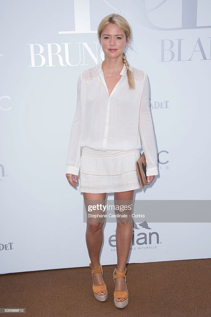 Virginir Efira attends the 'Brunch Blanc' hosted by Barriere Group. Held on Yacht 'Excellence' on June 29, 2014 in Paris, France.