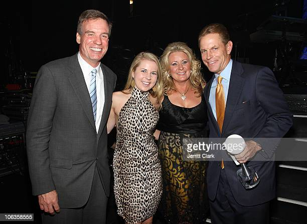 Viriginia Senator Mark Warner Bailey Ramsey Norma Ramsey and Russ Ramsey attend the We Are Family Foundation 8th Annual Celebration Gala at...