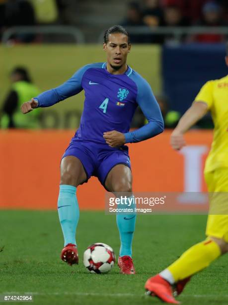 Virigl van Dijk of Holland during the International Friendly match between Romania v Holland at the Arena Nationala on November 14 2017 in Bucharest...