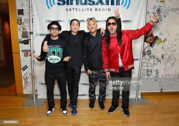 DJ Virman Kev Nish Prohgress and JSplif of Far East Movement visits the SiriusXM Studios on October 7 2013 in New York City