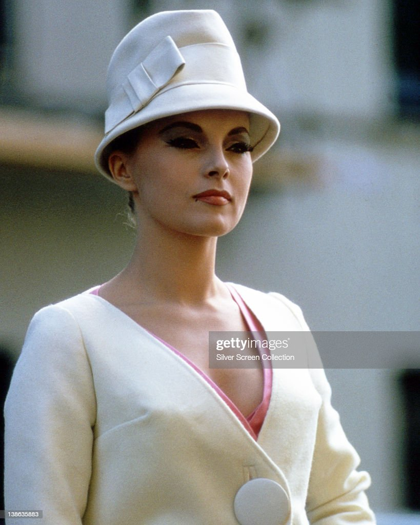 <a gi-track='captionPersonalityLinkClicked' href=/galleries/search?phrase=Virna+Lisi&family=editorial&specificpeople=843521 ng-click='$event.stopPropagation()'>Virna Lisi</a>, Italian actress, wearing a cream jacket with a matching cloche hat, circa 1965.
