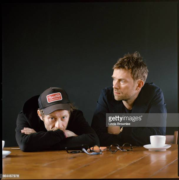 Virtual band Gorillaz created by Damon Albarn and Jamie Hewlett are photographed on March 23 2017 in London England