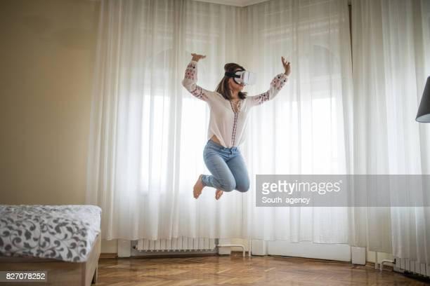 Virtual jump in bedroom