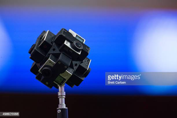 A virtual reality camera rig on the field before the game between the Syracuse Orange and the Clemson Tigers on November 14 2015 at The Carrier Dome...