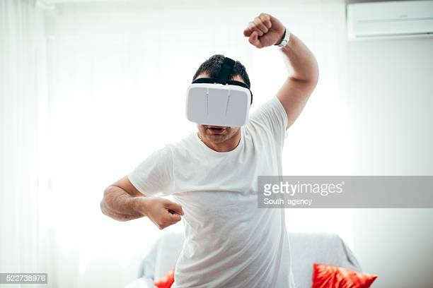 Virtual reality fight