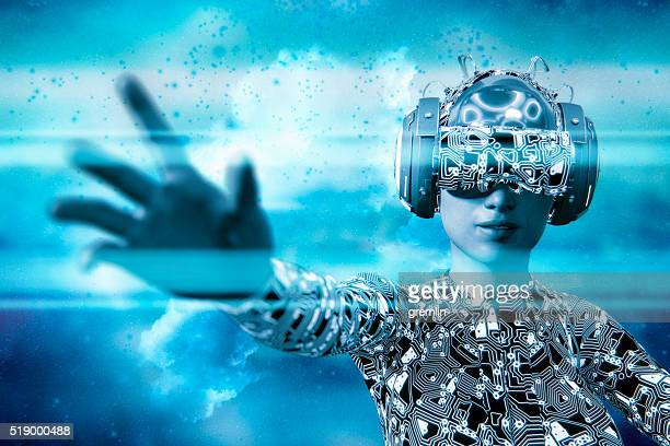 Réalité virtuelle des lunettes et simulateur de RV