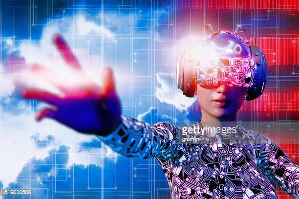 Occhiali di realtà virtuale e simulatore VR