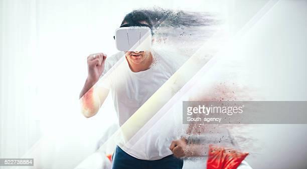 Virtual reality jogging