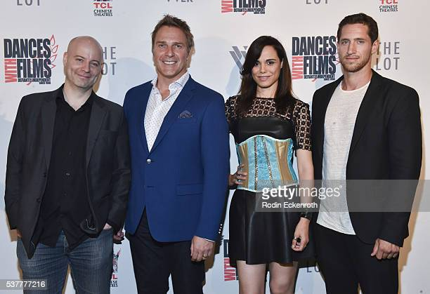 'Virtual Revolution' director GuyRoger Duvert Mike Dopud Melissa Mars and Emilien de Falco attend the 19th annual Dances with Films Festival Arrivals...