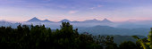 The Virunga Range in Congo and Rwanda taken from Nkuringo in Uganda. This is the home of the Mountain Gorillas